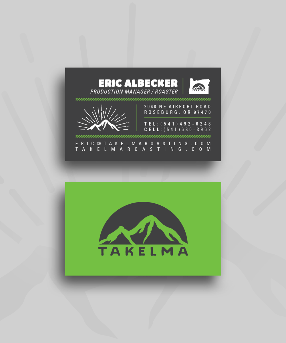 Takelma Roasting Business Card